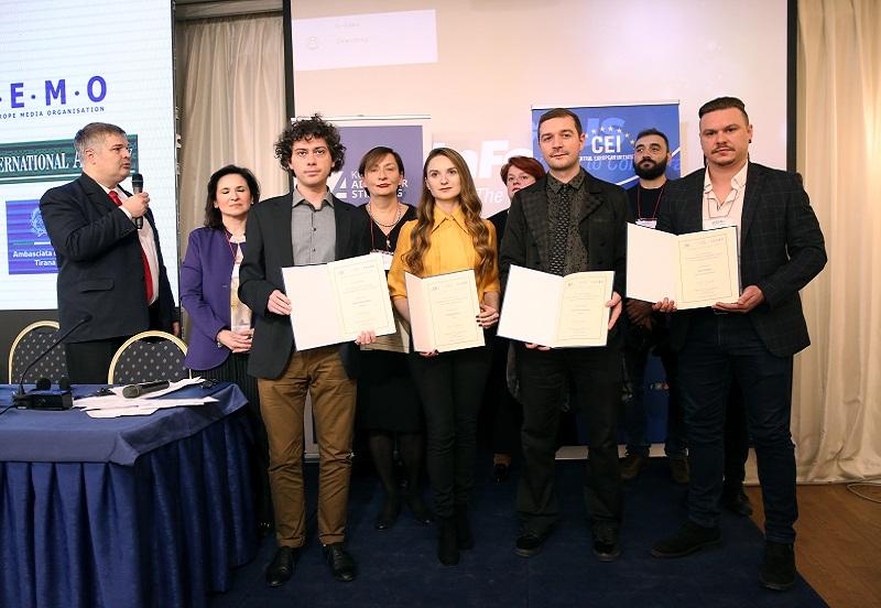 Stevan Dojcinovic and Dragana Peco (Serbia) and Nino Bilajac (Bosnia and Herzegovina) win CEI SEEMO Award for Outstanding Merits in Investigative Journalism 2018