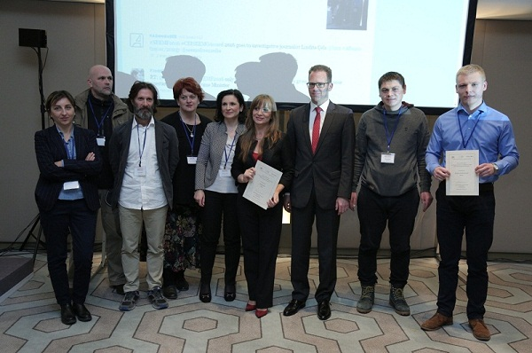 Albanian and Belarusian journalists win CEI SEEMO Award for Outstanding Merits in Investigative Journalism 2016