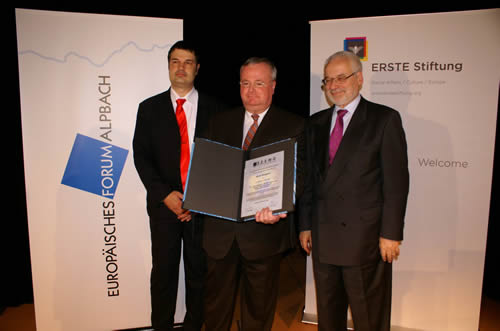 Presentation of the Dr. Erhard Busek SEEMO Award for Better Understanding 2009