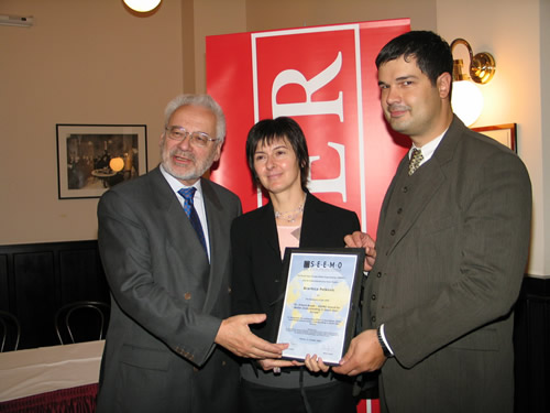 The Dr. Erhard Busek SEEMO Award for Better Understanding in 2005 to Brankica Petkovic from Peace Institute Ljubljana, Slovenia