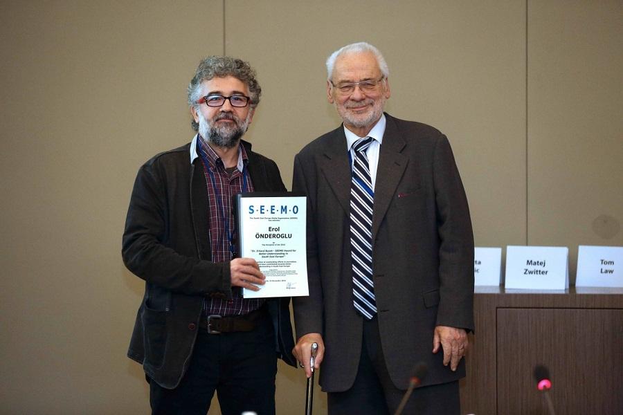 Erol Onderoglu is the announced winner of the 2016 Dr. Erhard Busek – SEEMO Award for Better Understanding in South East Europe