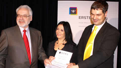 The Dr. Erhard Busek SEEMO Award for Better Understanding in 2008 to Brankica Stankovic, from RTV B92, Belgrade, Serbia