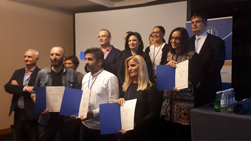 Ermin Zatega (Bosnia and Herzegovina) and Mubarek Asani (North Macedonia) and Arlis Alikaj (Albania) win CEI SEEMO Award for Outstanding Merits in Investigative Journalism 2019