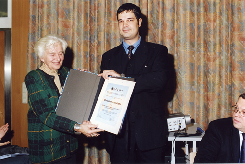 SEEMO Human Rights Award 2002 to Christine von Kohl from Austria