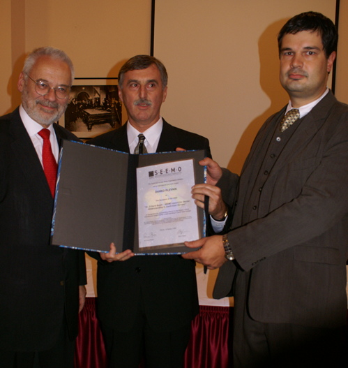 The Dr. Erhard Busek SEEMO Award for Better Understanding in 2006 to Danko Plevnik from Croatia